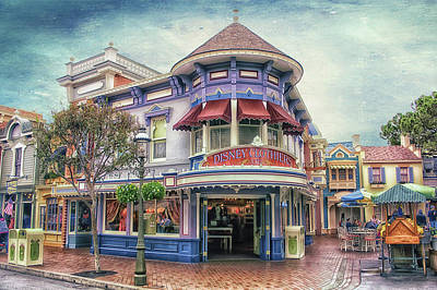 Disney Clothiers Main Street Disneyland Textured Sky Print by Thomas Woolworth