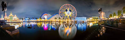 Photograph - Disneyland World Of Color Panoramic Shot by Jerome Obille