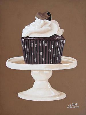 Muffins Painting - Display Of Mocha by Kayleigh Semeniuk