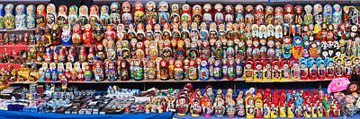 Moscow Photograph - Display Of The Russian Nesting Dolls by Panoramic Images