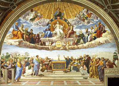 Disputation Of Holy Sacrament. Print by Raphael