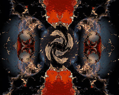 Contemporary Abstract Digital Art - Disrupting Influence by Claude McCoy
