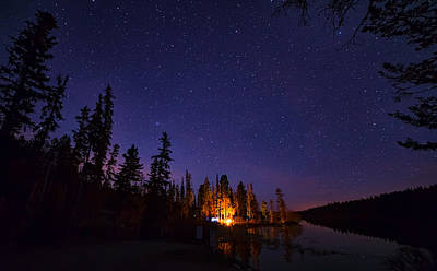Kamloops Photograph - Distant Campfire by James Wheeler
