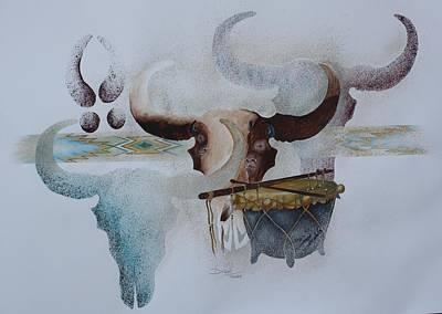 Distant Thunder Print by Francis Tsonetokoy
