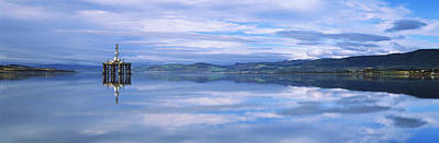 Oil Drill Rig Photograph - Disused Oil Rig In The Cromarty Firth by Panoramic Images