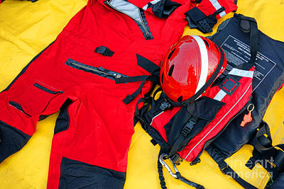 United States Coast Guard Photograph - Diver Emergency Rescue Kit by Olivier Le Queinec