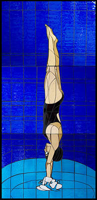 Diver Print by Kimber Thompson