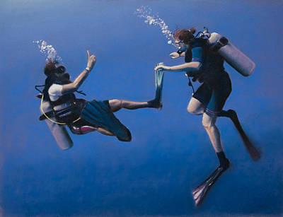 Scuba Pastel - Divers by Christopher Reid