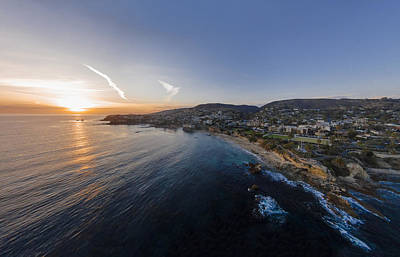 Turquois Water Photograph - Divers Cove Laguna Beach Aerial by Scott Campbell