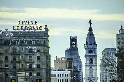 William Penn Digital Art - Divine Lorraine And City Hall by Bill Cannon