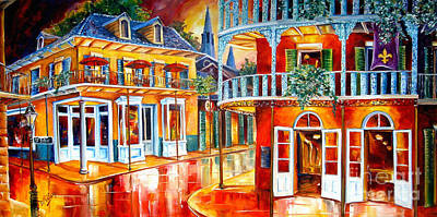 Lamp Post Painting - Divine New Orleans by Diane Millsap