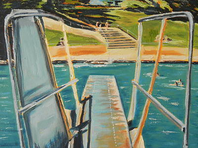 Diving Board Painting - Diving Board by Connie Taylor