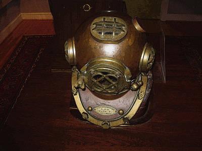Diving Helmet Digital Art - Diving Helmet by Michael Genova