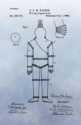 Diving Suit Patent Print by Dan Sproul