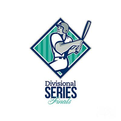 Divisional Baseball Series Finals Retro Print by Aloysius Patrimonio