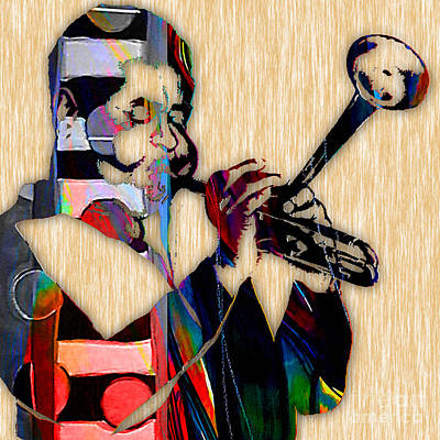 Trumpet Mixed Media - Dizzy Gillespie Collection by Marvin Blaine