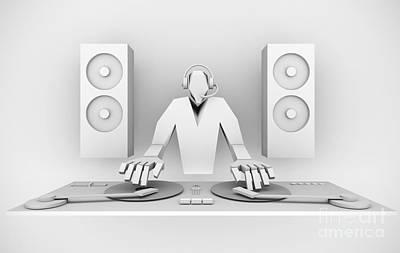 Jockey Digital Art - dj by Igor Kislev