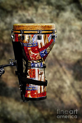 Congas Photograph - Djembe Or Djambe Africa Culture Drum In Color 3242.02 by M K  Miller