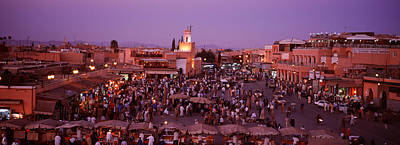 Buy Sell Photograph - Djemma El Fina, Marrakech, Morocco by Panoramic Images
