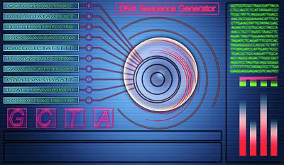 Dna Sequence Generator Print by Wladimir Bulgar
