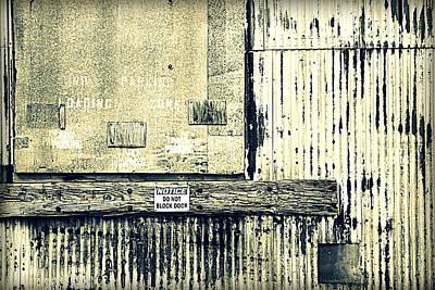 Do Not Block Door Print by Valentino Visentini