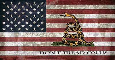 Do Not Tread On Us Flag Print by Daniel Hagerman