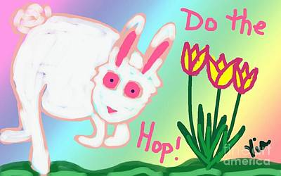 Do The Hop Print by Judy Via-Wolff