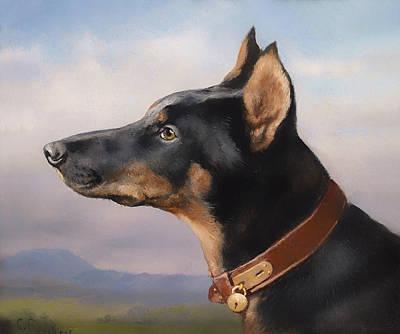 Doberman Art Painting - Doberman by Mountain Dreams
