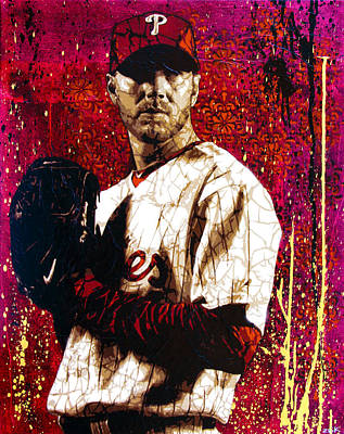 Philly Painting - Doc Halladay by Bobby Zeik