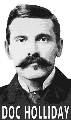 Doc Holliday Of The Old West Print by Daniel Hagerman