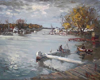 Dock At The Bay North Tonawanda Original by Ylli Haruni