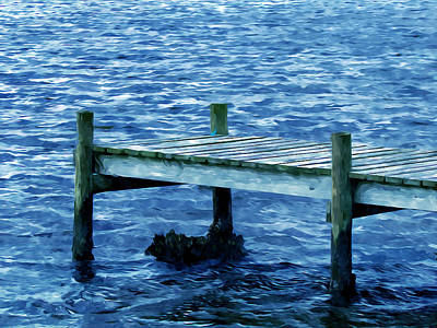 Travel Painting - Dock On The Lake 2 by Lanjee Chee