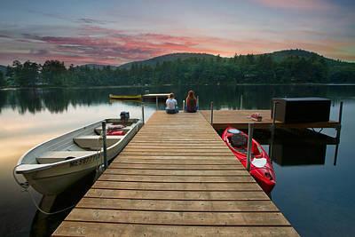 Dock Talk Between Friends Print by Darylann Leonard Photography