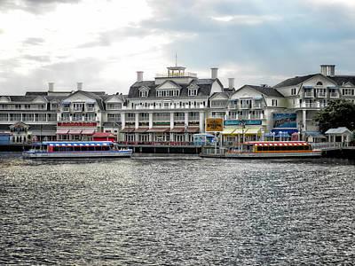 Merchandise Mixed Media - Docking At The Boardwalk Walt Disney World by Thomas Woolworth
