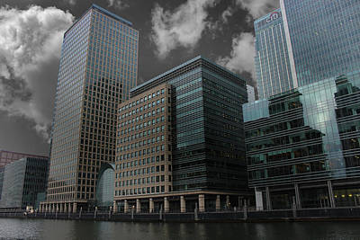 Citylife Photograph - Docklands London by Martin Newman