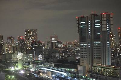 Tokyo Skyline Photograph - Docomo Tower Over Shinagawa Station And Tokyo Skyline At Night by Jeff at JSJ Photography
