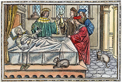 Doctor And Patient, 1516 Print by Granger