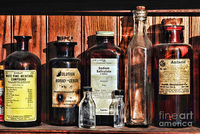 Mortar And Pestle Photograph - Doctor - Antacid In A Bottle by Paul Ward