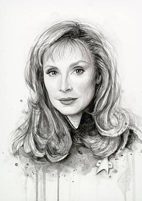 Doctor Beverly Crsuher Print by Olga Shvartsur