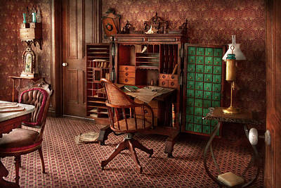 Photograph - Doctor - Desk - The Physician's Office  by Mike Savad