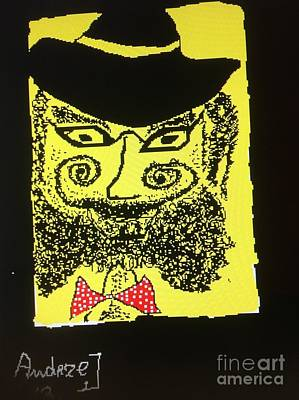 Ptints Drawing - Doctor Goldfish - Krakauer. Judaica . Shabbat Shalom. - King Without A Crown.  Featured 6 Times by  Andrzej Goszcz
