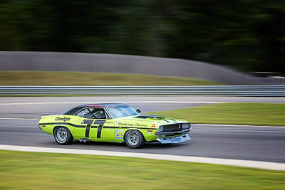 Race Car Photograph - Dodge Challenger by Bill Wakeley