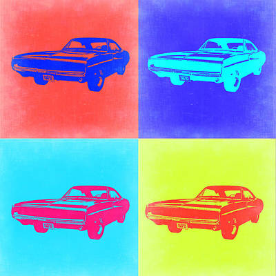 Dodge Painting - Dodge Charger Pop Art 1 by Naxart Studio