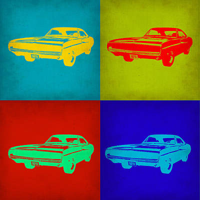 Dodge Painting - Dodge Charger Pop Art 2 by Naxart Studio