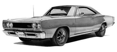 Dodge Coronet Print by Lyle Brown