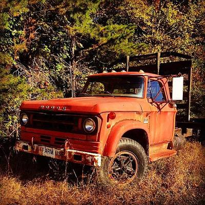Truck Photograph - Dodge #truck. #abandoned #iphone by Terry Rowe