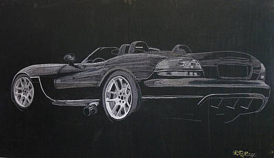 Viper Painting - Dodge Viper Convertible by Richard Le Page