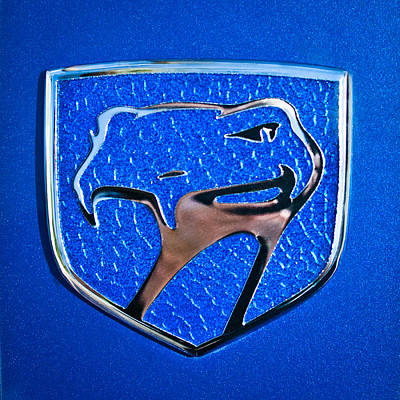 Car Photograph - Dodge Viper Emblem -217c by Jill Reger