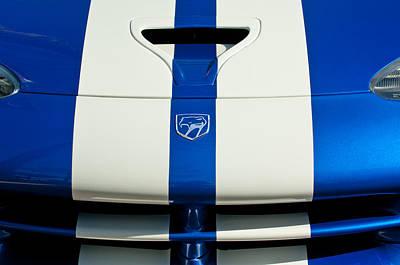 Viper Photograph - Dodge Viper Hood Emblem by Jill Reger