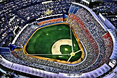 Mlb Painting - Dodger Stadium Painting by Florian Rodarte